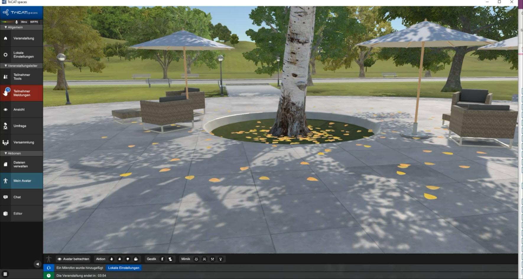 Online-Seminare in der virtuellen 3D Lernumgebung Lern-Atmosphäre