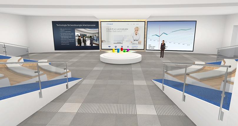 Online-Seminare in der virtuellen 3D Lernumgebung das Auditorium