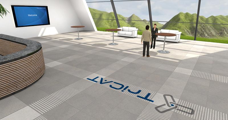 Online-Seminare in der virtuellen 3D Lernumgebung das Foyer