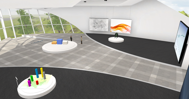 Online-Seminare in der virtuellen 3D Lernumgebung das große Trainingscenter